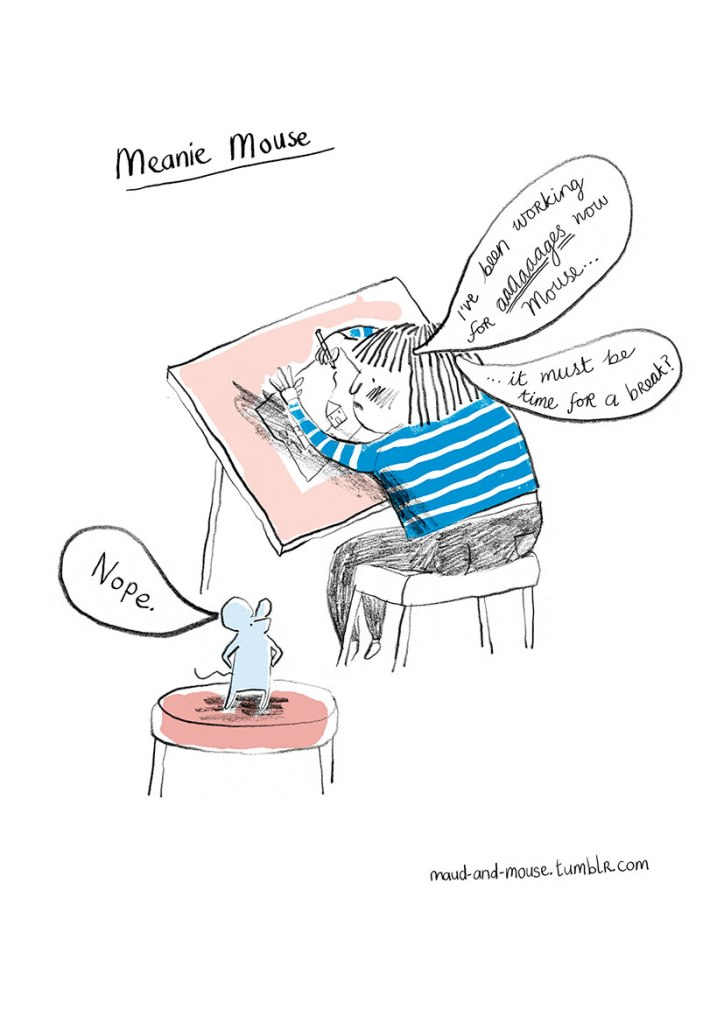 maud and mouse cartoon by sarah bowie illustration